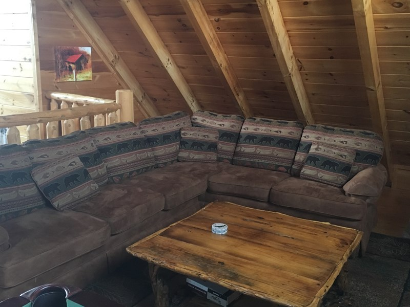 sectional sleeper sofa in loft