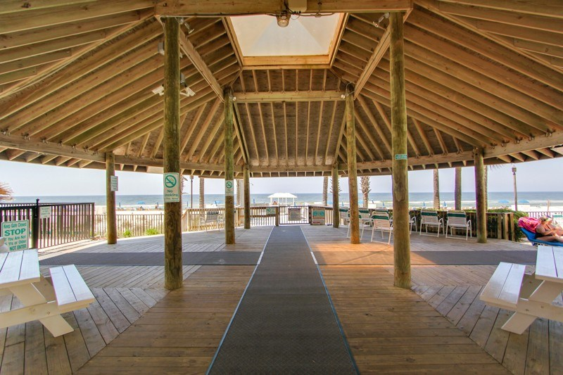 Beautiful pavilion by the beach