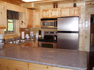 Upgraded kitchen with stainless steel appliances and silestone countertops