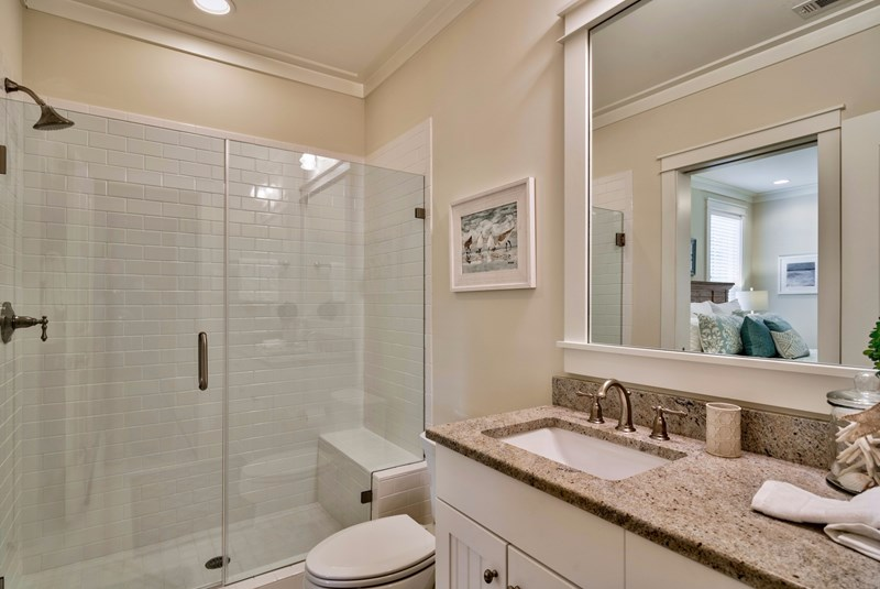 Downstairs Private Master Bath with Walk in Shower
