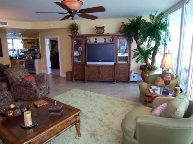 TV entertainment center and wet bar with ice maker
