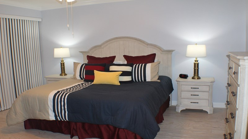 View of Master Bedroom Furnished with a King Size Bed