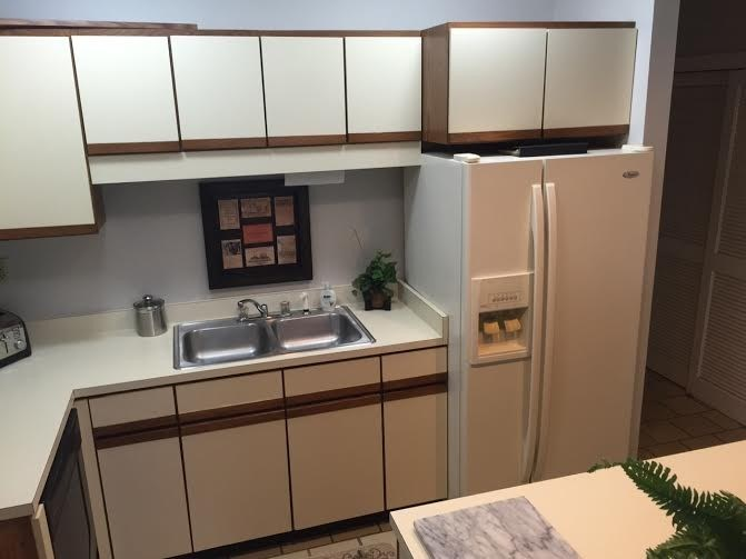 Kitchen View with Microwave and Dishwasher