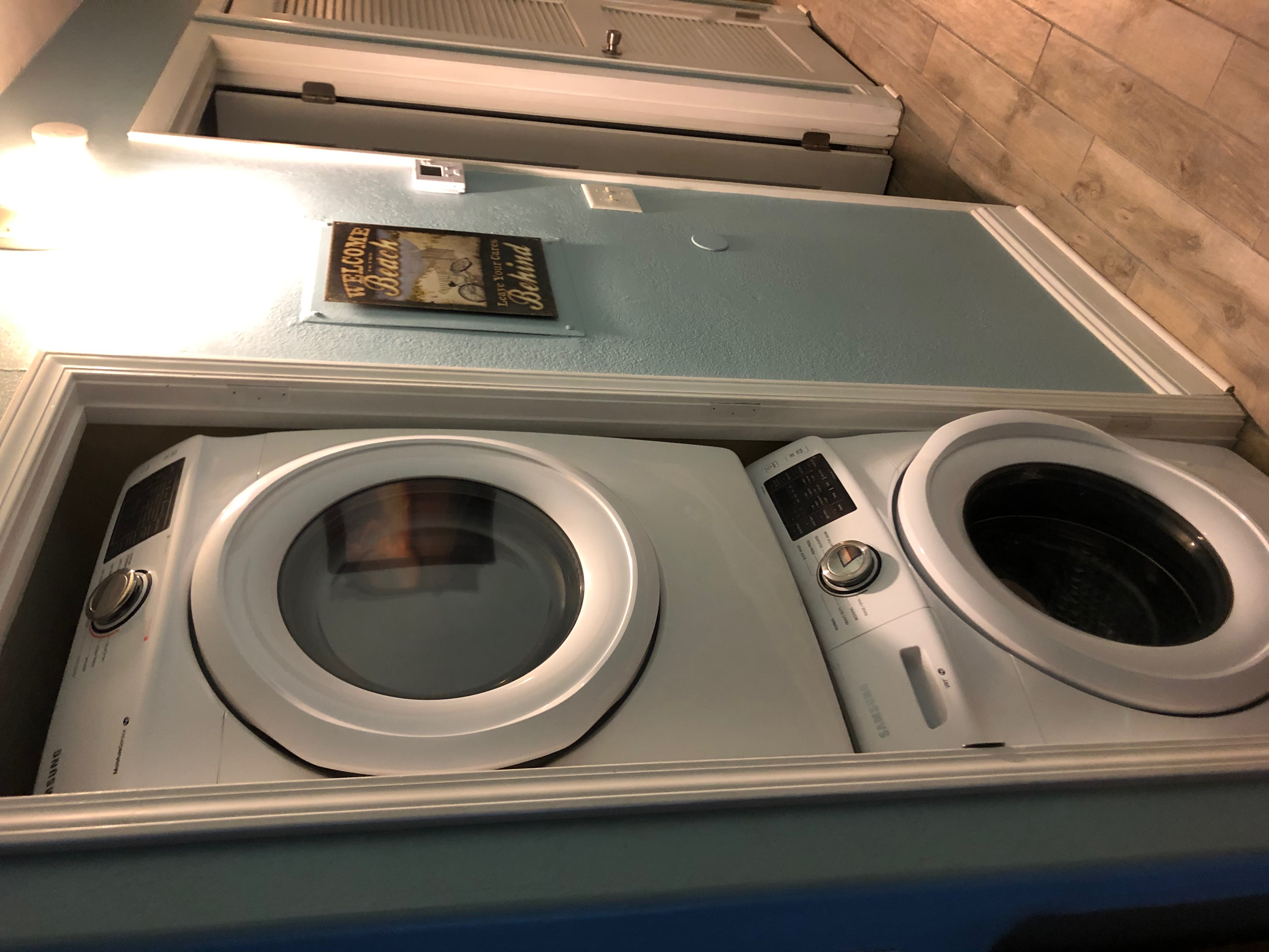 New front load full size washer and dryer