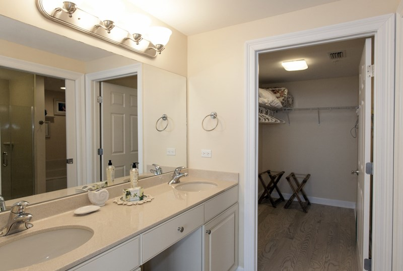 Newly Renovated Large Master Bathroom with Large Adjoining Walk-in Closet