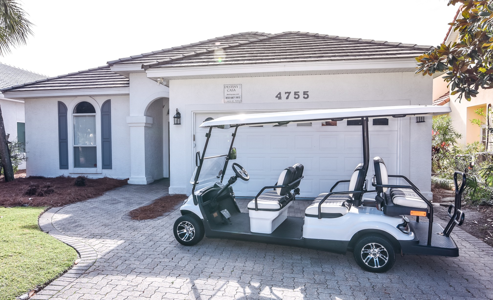 Street Legal Golf Cart Included.