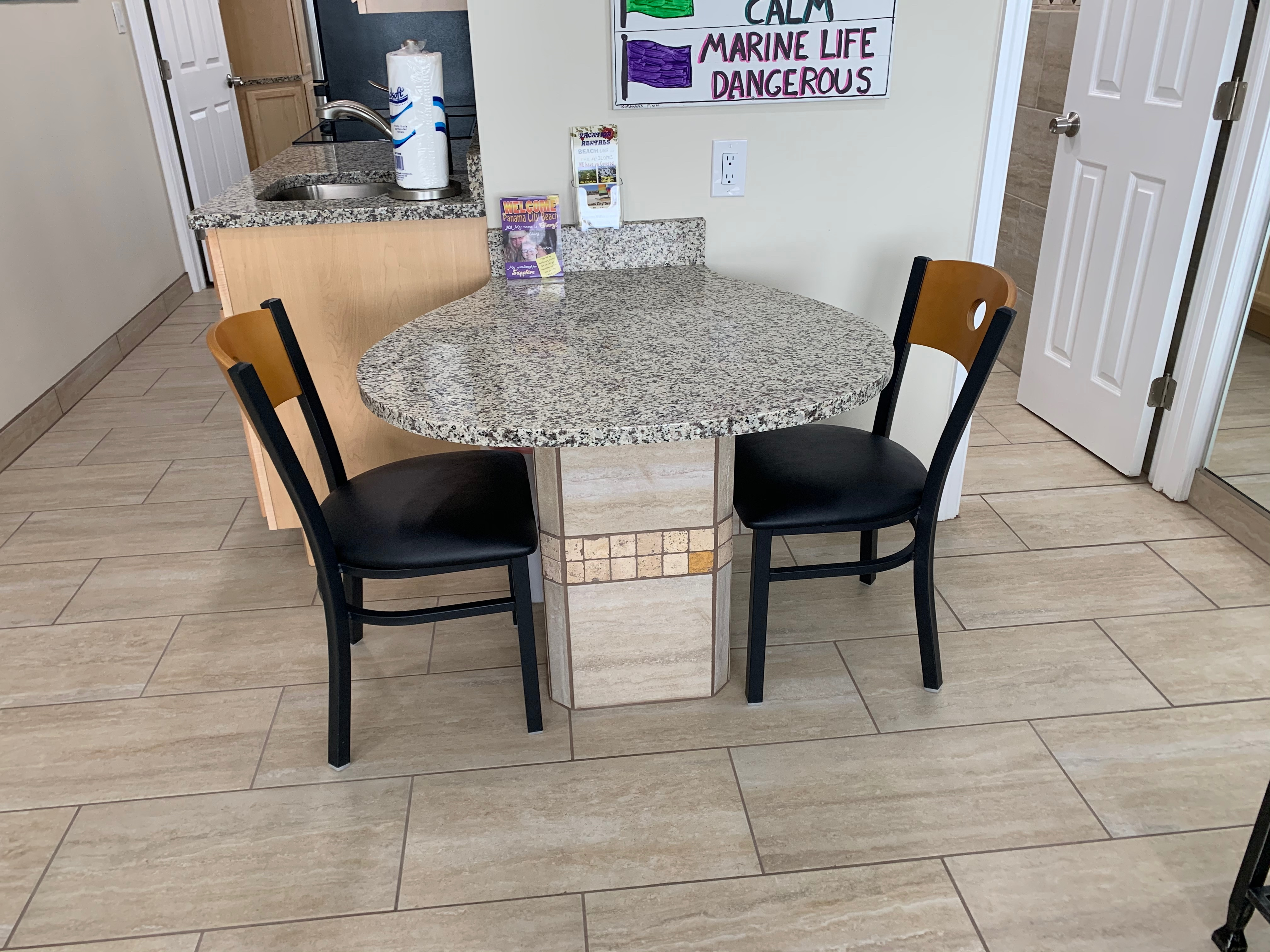 Granite Seating for TWO
