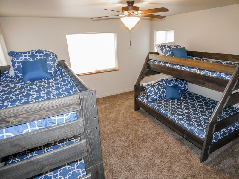 Upper Bedroom #3 | Bunk Beds - 3 Twins & 1 Full