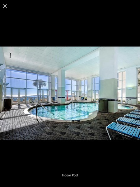 One of indoor pools