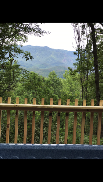 View from deck and Hottub