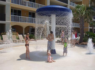 Mushroom fountain - the kids love this!