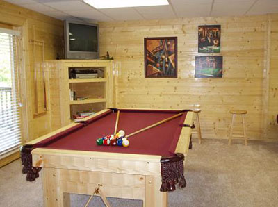 Have fun shooting pool in our downstairs Family Room