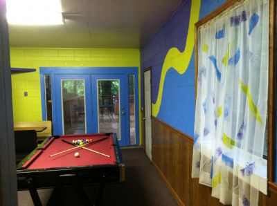 Seperated  Lower level Game Room