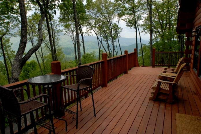 deck mountain view
