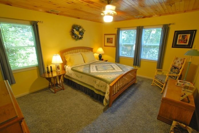 Queen bedroom on second floor