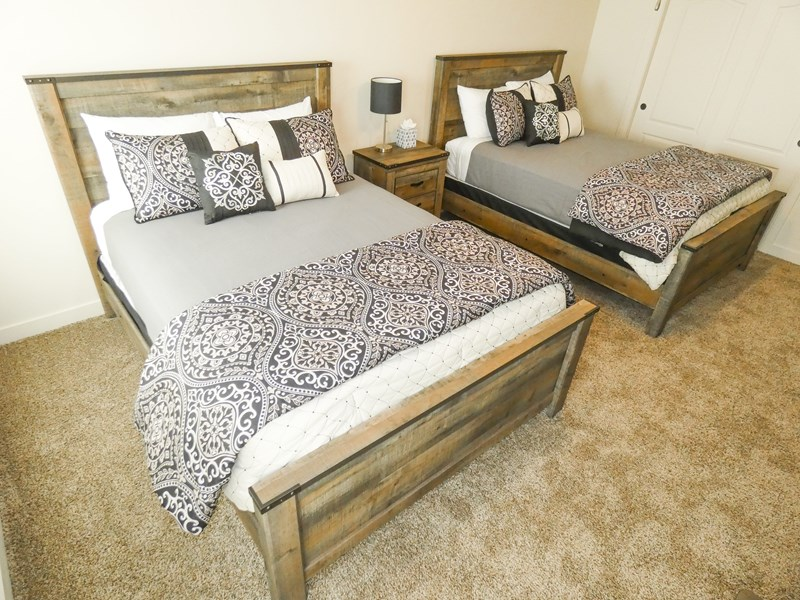 Upper Bedroom #2 | Two Queen Size Beds - Includes Flat Screen TV
